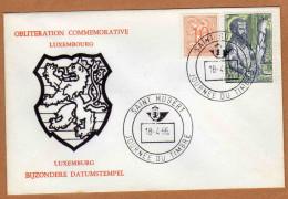 Enveloppe Cover Brief 850 1281 Oblitération Commémorative Luxembourg Saint Hubert - Belgium