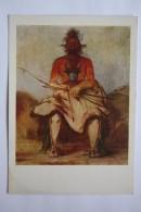 "OLD USSR  PC -  ""Indian Chief "" By Catlin- 1960  -  - Arch - ARCHER - Tir à L'Arc"