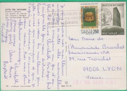 Vatican - Cachet Sur Carte Postale De 1984, Gloria In Excelsis Deo Et In Terra Pax Hominibus Bonae Voluntatis - Marcophilie - EMA (Empreintes Machines)