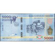 TWN - BURUNDI 53 - 5000 5.000 Francs 15.1.2015 Prefix DB UNC - FREE SHIPPING On Orders Over EUR 150 - Burundi