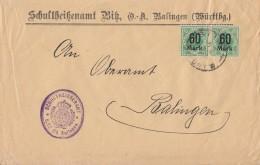 Württemberg Brief Mef Minr.2x 166 Bitz - Wuerttemberg