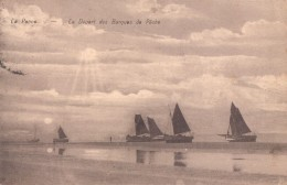 De Panne La Panne Le Depart Des Barques De Pêche - De Panne