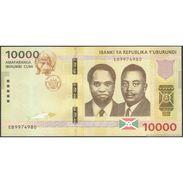 TWN - BURUNDI 54 - 10000 10.000 Francs 15.1.2015 Prefix EB UNC - FREE SHIPPING On Orders Over EUR 150 - Burundi