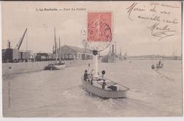 LA ROCHELLE - PORT LA PALLICE : DES SOUS MARINS - ECRITE 1905 - 2 SCANS - - La Rochelle