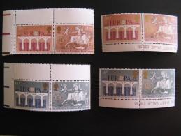 GDE BRETAGNE LOT 8 TIMBRES NEUFS EUROPA EN PAIRES AVEC MARGE GOMME D'ORIGINE INTACTE N°1126 A 1129 YT - 1952-.... (Elizabeth II)