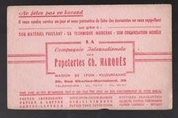 Buvard Compagnie Internationale Des Papeteries Ch. Marquès Maison De Lyon-Villeurbanne - Papeterie