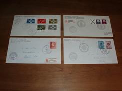 4 Enveloppen Met Bijzondere Stempels (1967) - Period 1949-1980 (Juliana)