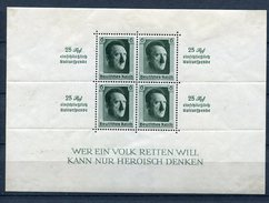Germany 1937 Souvenir Sheet MH  Mi Block 11 Sc B104 - Unused Stamps