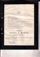 40-45 WWII Saint-Josse DORA Georges MARCQ Prisonnier Politique 1913 - 5 Février 1945 Camp Concentration D'ELLRICH DORA - Todesanzeige
