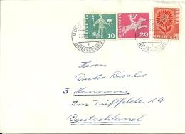 Suisse Schweiz 1965 Zurich >> Hannover D / Europa CEPT - Schweiz