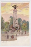 Paris France, Monument Gambetta Artist Image Paris Park, C1900s Vintage Postcard Glitter Attached - France
