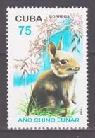 Cuba 1999 Kuba Mi 4183 Chinese New Year: Year Of The Rabbit / Chinesisches Neujahr: Jahr Des Hasen **/MNH - Nouvel An Chinois