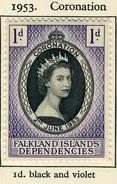 1953 - FALKLAND - Catg.. Mi.18 - LH - (SAR3010.4) - Falkland