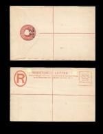 RB)1889 GILBRATAR , REGISTERED ENVELOPES, 20 CENTS IN CRIMSON COLOR,  POST OFFICE, XF - Gibraltar