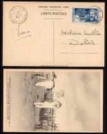 AEF 1940: N° 140D Oblitéré Du 20-01-42 Sur Carte Postale - TTB - Brieven En Documenten