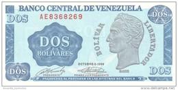 VENEZUELA 2 BOLIVARES 1989 P-69 UNC  [ VE069 ] - Venezuela