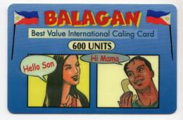 PHILIPPINES Recharge Balagan  600 U Date 2002 - Philippines