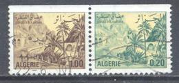 Algérie YT N°C659b Gorges De Kantara (Paire Se-tenant) Oblitéré ° - Algeria (1962-...)