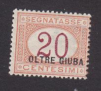 Oltre Giuba, Scott #J3, Mint Hinged, Italian Postage Due Overprinted, Issued 1925 - Oltre Giuba