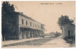 CPA - VAUVERT (Gard) - La Gare - Francia