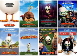 14 Postcards Of   Chicken Little Corpse Bride Film Moive  , Postkarte Carte Postal - Affiches Sur Carte