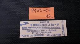 Carnet  N° 2155-C1  Neuf ** à 20% De La Cote  TB - Booklets