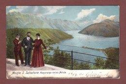 Ticino - MONTE S. SALVATORE - Panorama Verso Melide // Dos Blessé // - TI Ticino