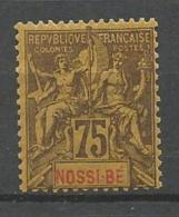 NOSSI-BE N° 38 NEUF* CHARNIERE TB MH - Nossi-Bé (1889-1901)