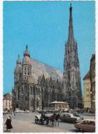 Wien :  KUTSCHE, OPEL OLYMPIA REKORD P1 CARaVAN, DKW JUNIOR, VW 1200 KÄFER/COX -Domsbibliothek,Stephansdom -(Österreich) - Toerisme