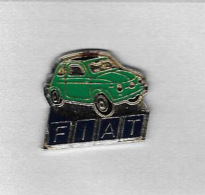 Pin´s  Automobile  FIAT  500  Verte - Fiat