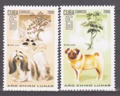 Cuba 2006 Kuba Mi 4774-4775 Chinese New Year: Year Of The Dog / Chinesisches Neujahr: Jahr Des Hundes **/MNH - Chiens