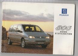 Peugeot 806 - Guide D'utilisation 180 Pages + Carnet De Garantie Dans Housse En Skaï Avec Logo Lion - Cars