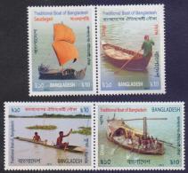 BANGLADESH 2015 MNH - Traditional Boats Of Bangladesh, Boat, Complete Set - Bangladesh