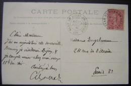 """Cachet  """"gare De Bourg En Bresse"""" Sur CPA De Bourg (voir Photo) - Marcophilie (Lettres)"""