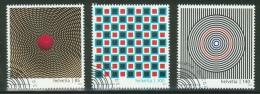 Suisse // Schweiz// Switzerland// 2010  // Art Optique,  Oblitéré 1er Jour  No. 1362-1364 - Stamps
