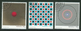 Suisse // Schweiz// Switzerland// 2010  // Art Optique,  Oblitéré 1er Jour  No. 1362-1364 - Timbres