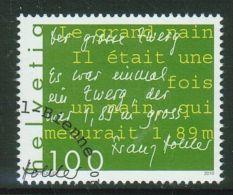Suisse // Schweiz// Switzerland// 2010  // Littérature Franz Hohler,  Oblitéré 1er Jour  No. 1365 - Timbres