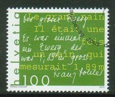 Suisse // Schweiz// Switzerland// 2010  // Littérature Franz Hohler,  Oblitéré 1er Jour  No. 1365 - Non Classés