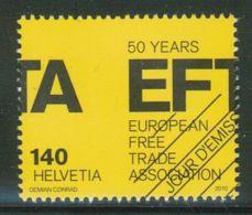 Suisse // Schweiz// Switzerland// 2010  // 50 Ans EFTA-AELE ,  Oblitéré 1er Jour  No. 1366 - Timbres