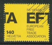 Suisse // Schweiz// Switzerland// 2010  // 50 Ans EFTA-AELE ,  Oblitéré 1er Jour  No. 1366 - Non Classés