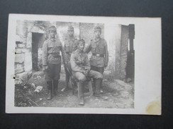 AK Echtfoto Ca. 1915 Österreichische Soldaten K.u.K. Infanterie Regiment 7... Feldpostamt 628 - Guerra 1914-18