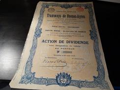 TRAMWAYS De Buenos-AYRES-1907 - Chemin De Fer & Tramway