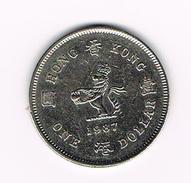 °°° HONG KONG  1 DOLLAR  1987 - Hong Kong