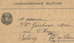SALON DE PROVENCE Guerre 14-18 Correspondance Sur Carte Lettre D'un Militaire Salonais 1914 - Salon De Provence