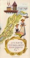 Ligne De Chemin De Fer Lucerne Interlaken Montreux - Werbung