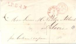 PRECURSEUR H. BRUNKMAN A ROTTERDAM A NESTOR ALBERT A LE HAVRE AN 1843 AVEC TOUT LES MARQUES - Netherlands