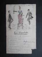 VP BELGIQUE (V1618) LES DANSES (2 Vues) Petit Document Format Carte De Visite Avec Un Petit Dessin - Cartes De Visite