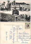 Monaco - Monte Carlo  -  5 Ansichten  Gelaufen 1955 - Monte-Carlo
