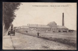 CREPY EN LAONNOIS 02 - Route De Laon Et Sucrerie - Belle Attelage - France
