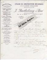 12 - Aveyron - MILLAU - Facture BARTHELEMY - Constructions Mécaniques Et Hydrauliques – 1919 - REF 250A - France